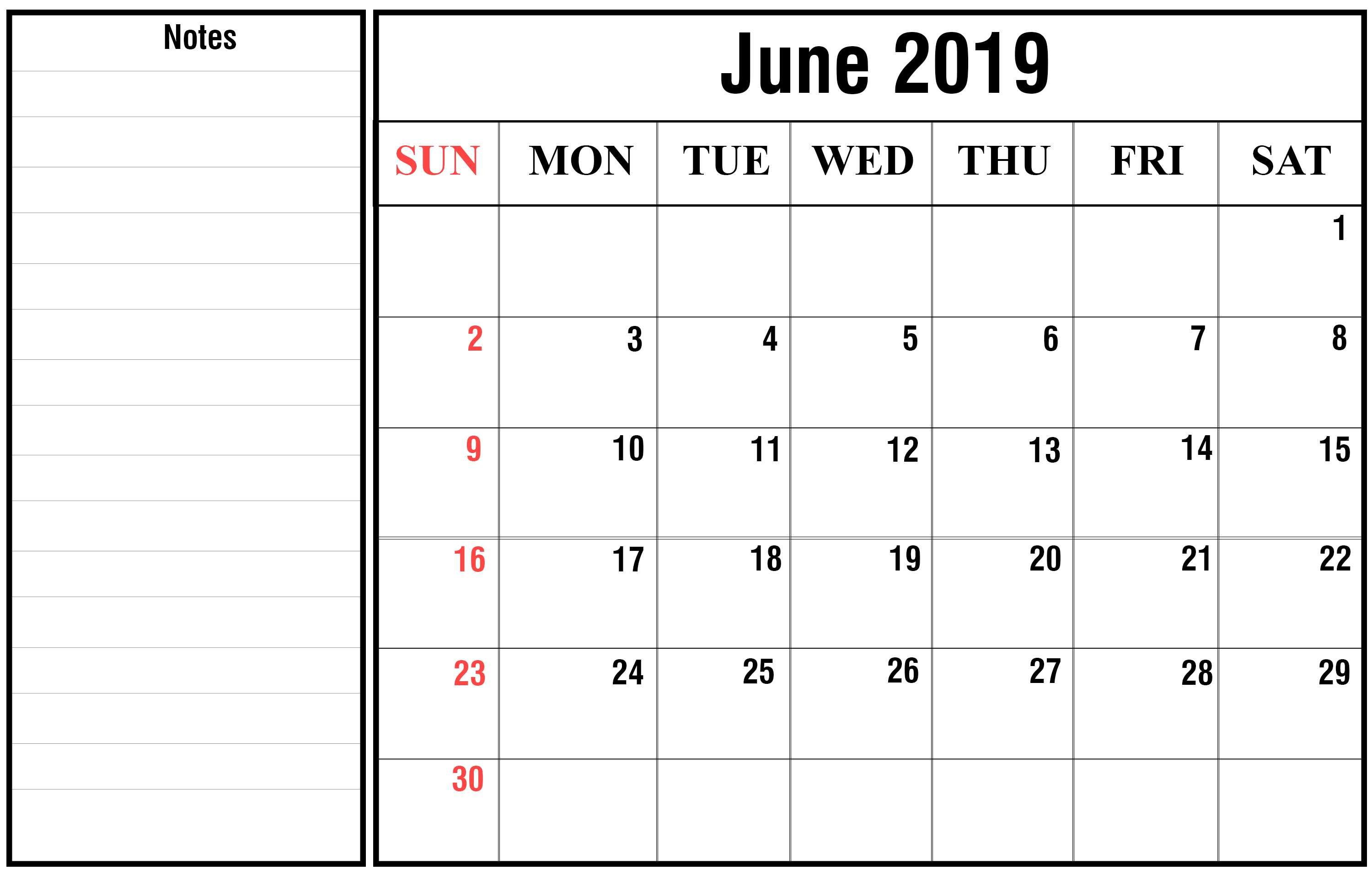 picture relating to Printable Wiki named How in the direction of Routine Your Thirty day period with June 2019 Printable Calendar