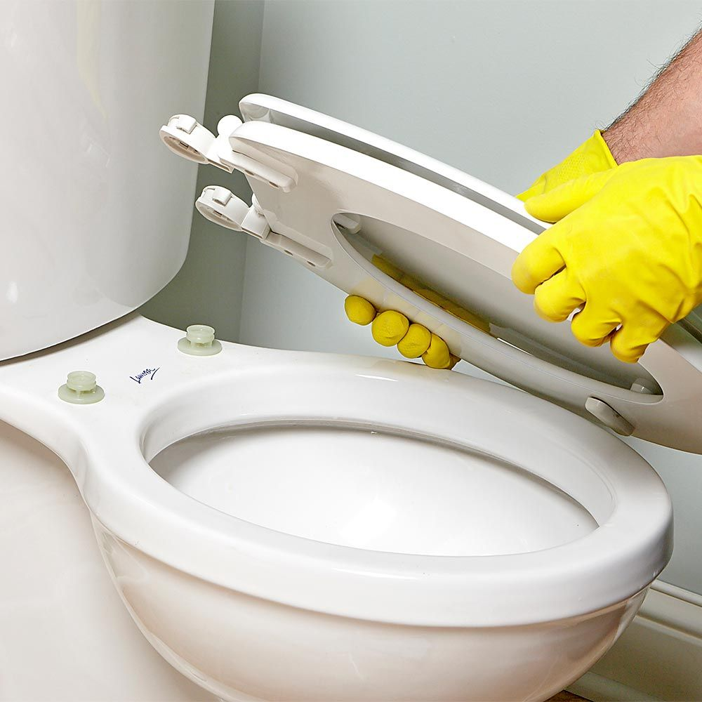 How To Clean A Bathroom 13 Tricks For Cleaning A Bathroom Faster And Better With Images Toilet Cleaning Seat Cleaner Cleaning