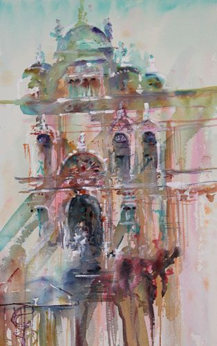 Venice Coming To Life Architectural Watercolour Jean Haines Art
