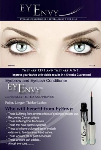 11ffaa78c01 Eyenvy™ is a breakthrough formula that improves the length, volume and  thickness of both eyelashes and eyebrows. Clinical studies have shown that  Eyenvy™ ...