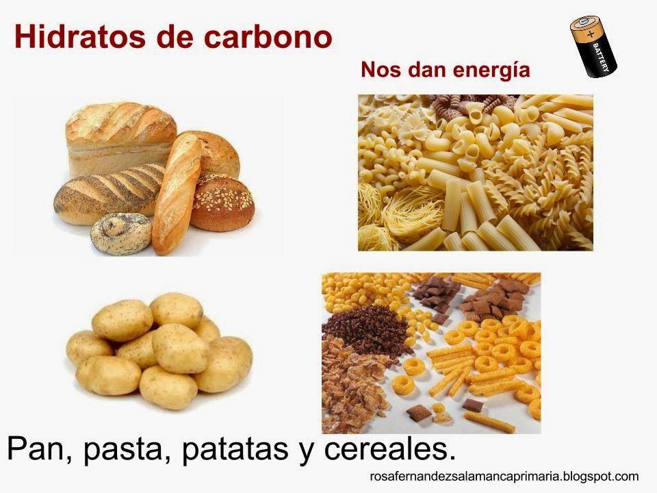 Maestra de primaria los alimentos vitaminas hidratos de carbono prote nas y grasas la - Alimentos hidratos de carbono ...