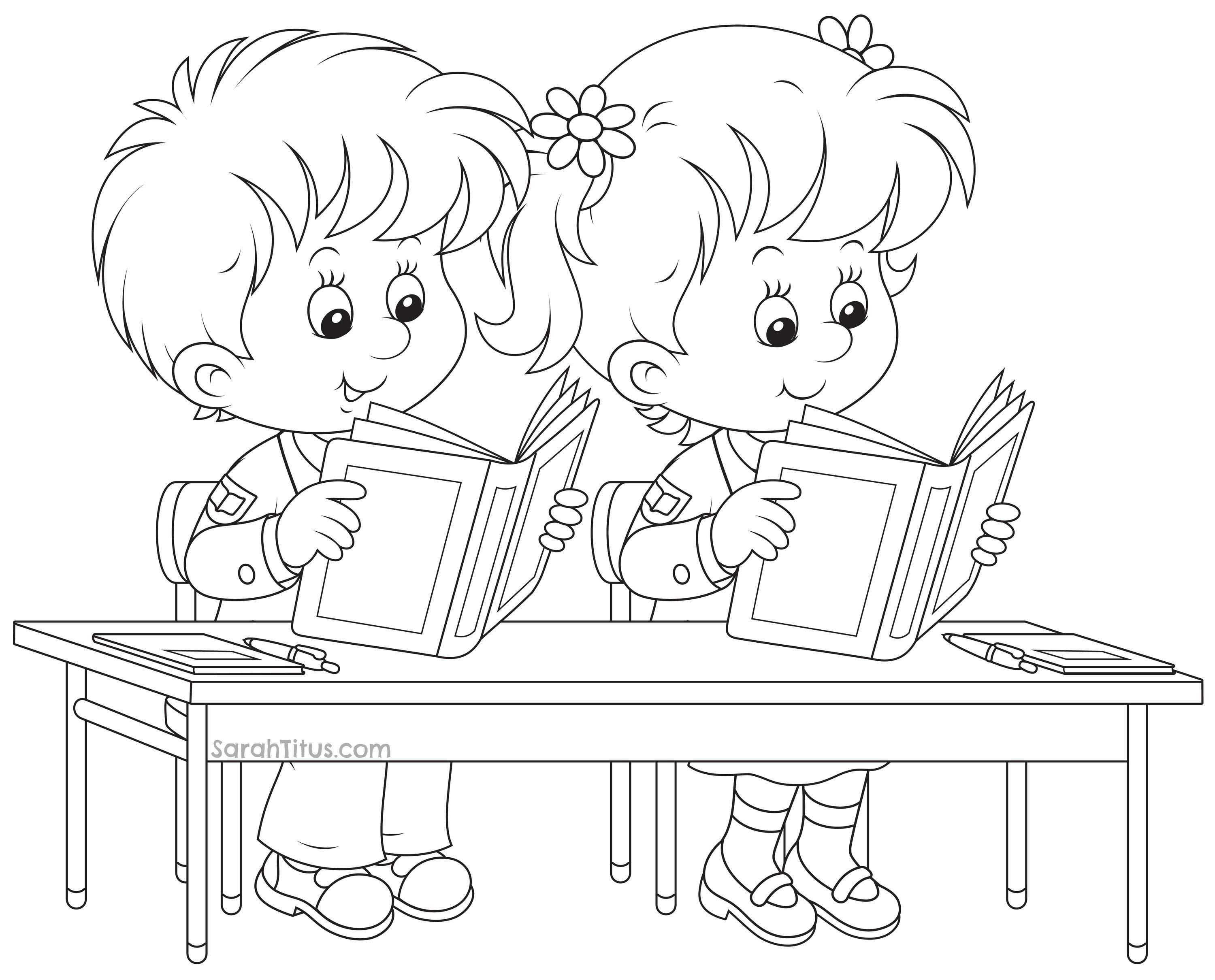 Coloring book school - Back To School Coloring Pages