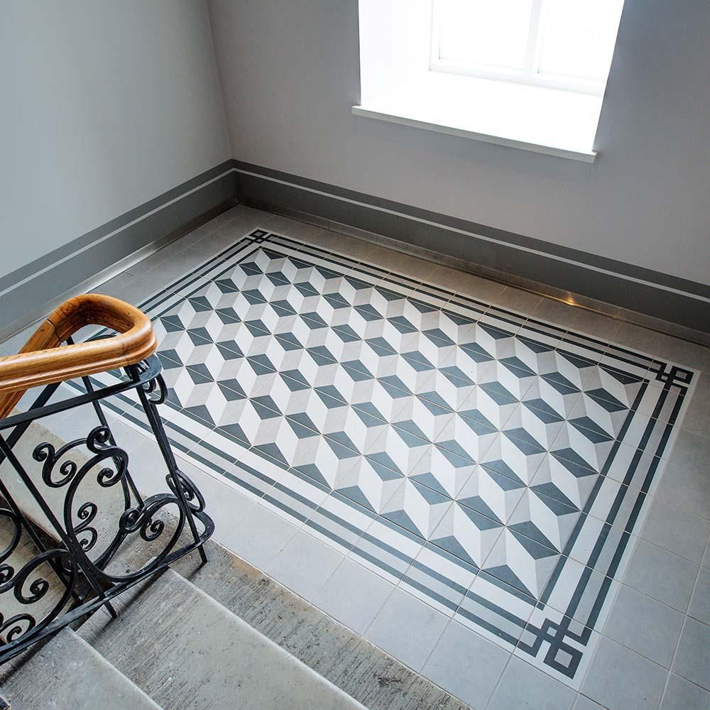 Merola tile twenties frame 7 34 in x 7 34 in ceramic floor and merola tile twenties frame 7 34 in x 7 34 in ceramic floor and wall tile whitecharcoal and greylow sheen dailygadgetfo Gallery