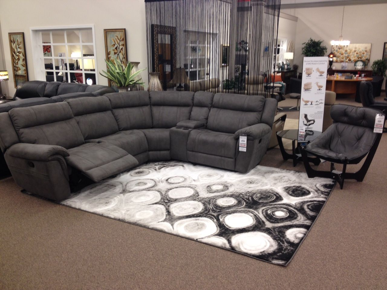 Ohhhh Soooo Cozy The Kohen Reclining Sectional Just Arrived In An Ultra Plush Fabric That Will Hug You Recliner Couch Reclining Sectional Living Room Decor