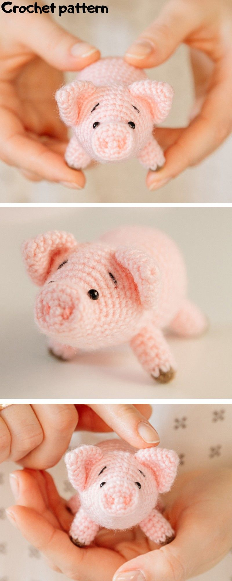 Mini Amigurumi Pig - A Free Crochet Pattern - Grace and Yarn | 2000x800