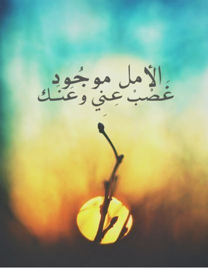 اجمل الصور و الكلمات عن الأمل Photo Quotes Arabic Quotes Qoutes