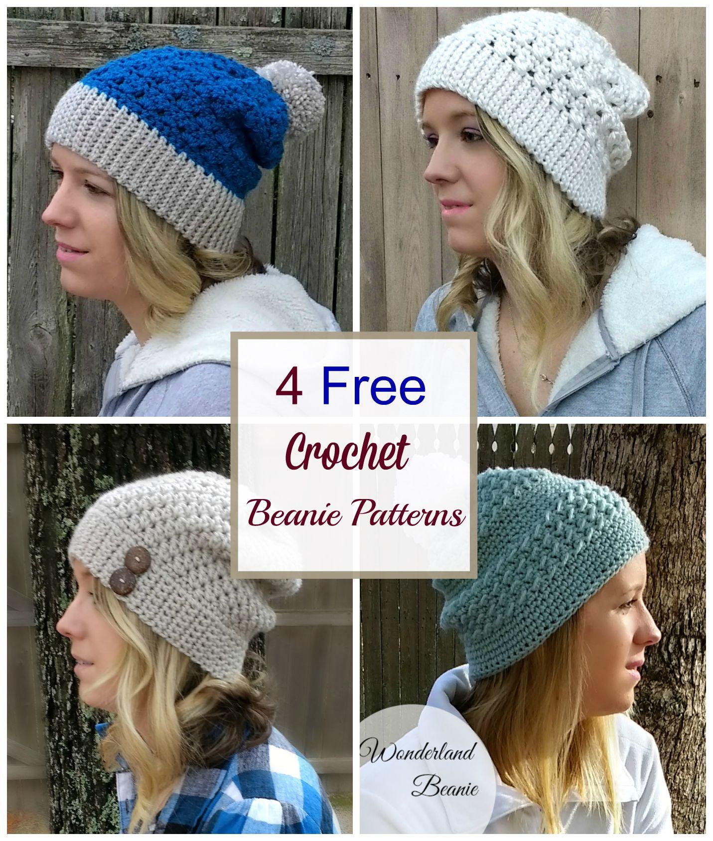 4 easy and free crochet beanie patterns crochet beanie