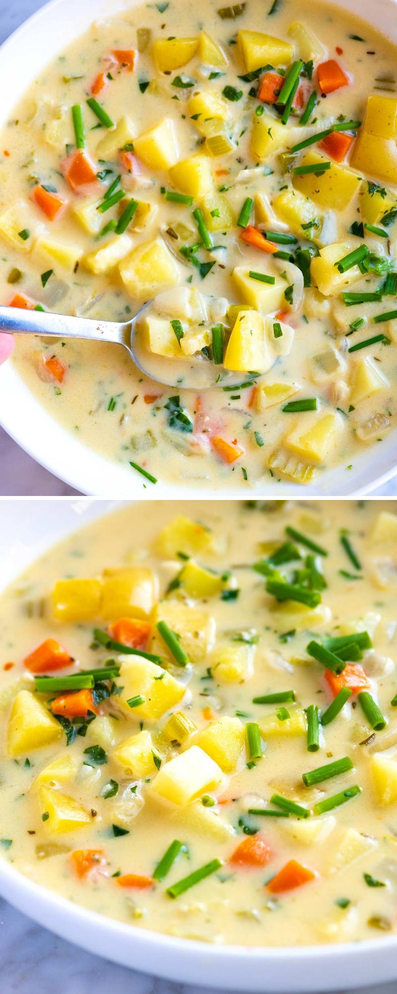 Easy Creamy Homemade Potato Soup