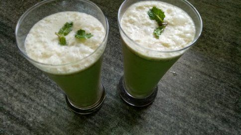 Pudina Chaas Mint Buttermilk Recipe Buttermilk Recipes Indian Food Recipes Recipes