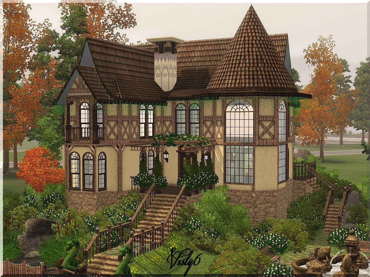 Visty6 Victorian House 2 Sims House Sims House Plans Victorian Homes