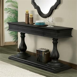 Corinne Double Pedestal Server I Riverside Furniture Riverside Furniture Furniture Table