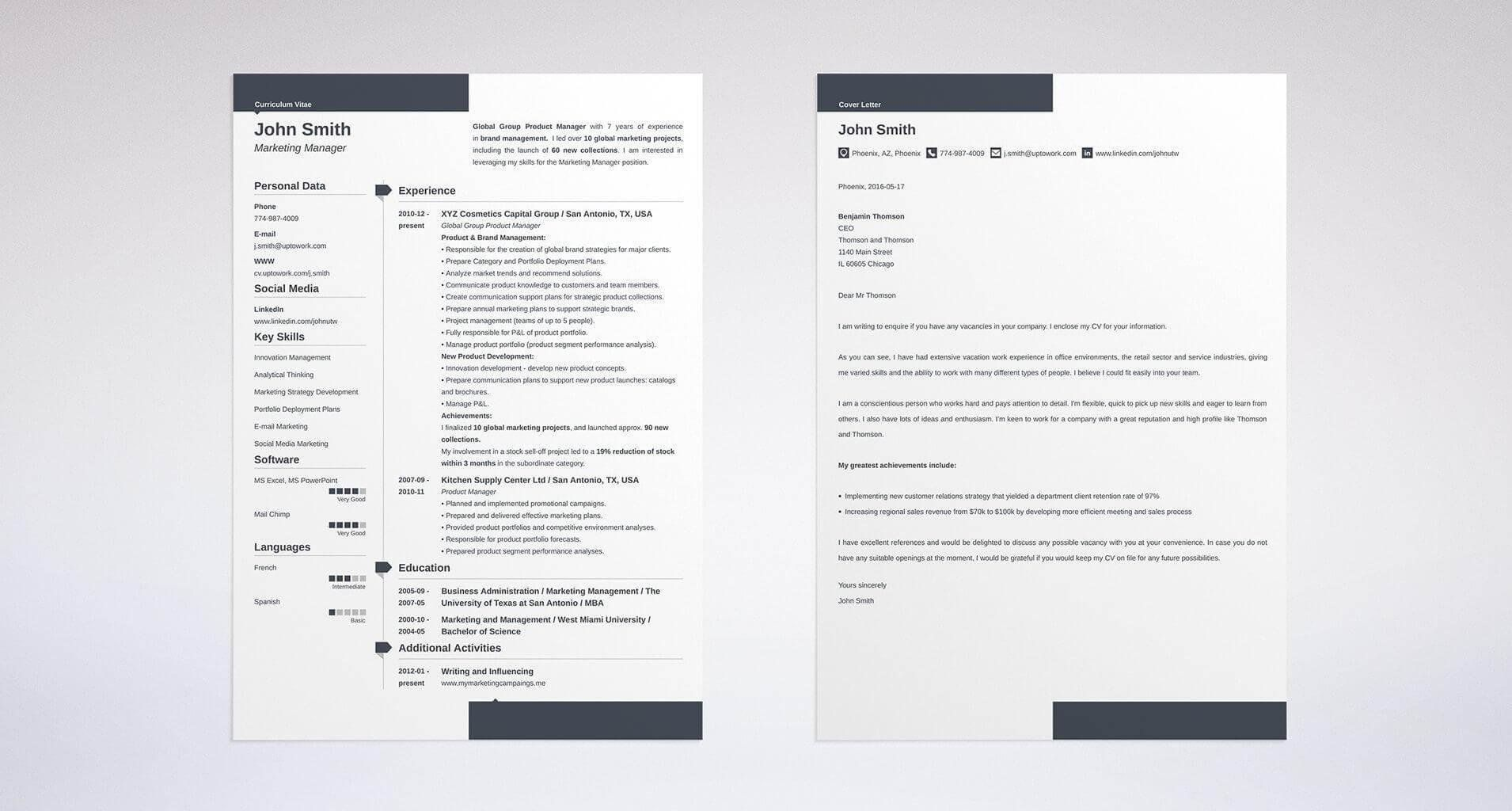 cover letter and resume template for an executive position