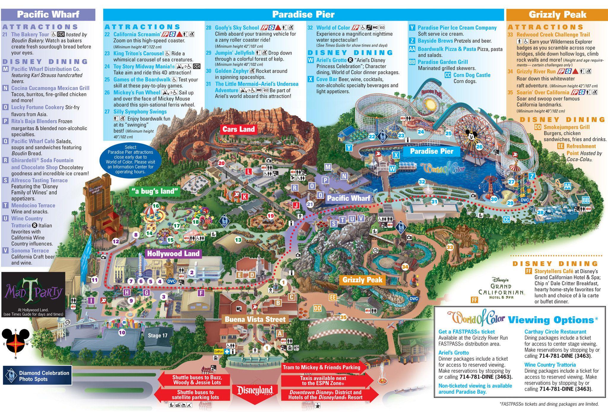 California Adventure Map Valid Printable Map