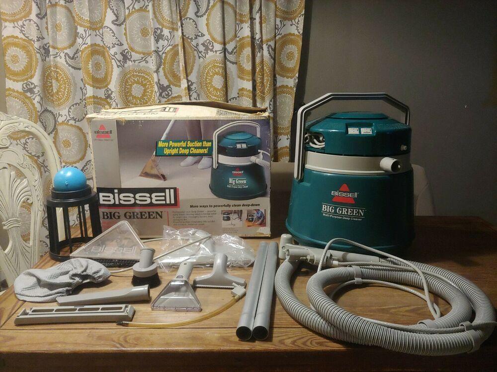 Bissell Big Green Clean Machine Carpet Shampooer Vacuum Blower 1672 Bissell Bissell Big Green Green Cleaning Carpet Shampooer