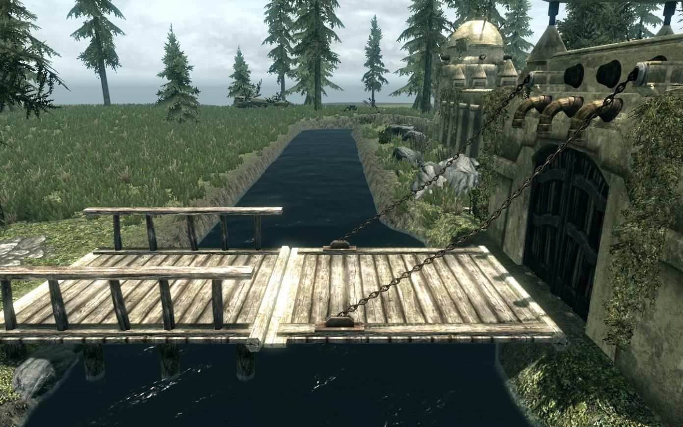 homes with wooden draw bridges - Google Search