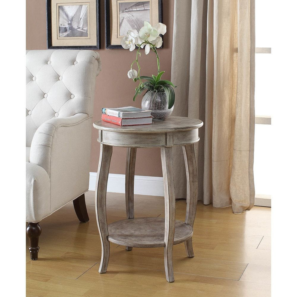 Yvonne Round Table in WhiteWashed Lime (WhiteWashed LIme