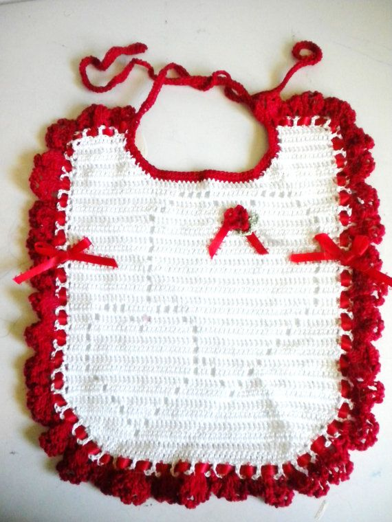 Sweetheart Valentine Crochet Baby Bib by babyminedesigns on Etsy ...