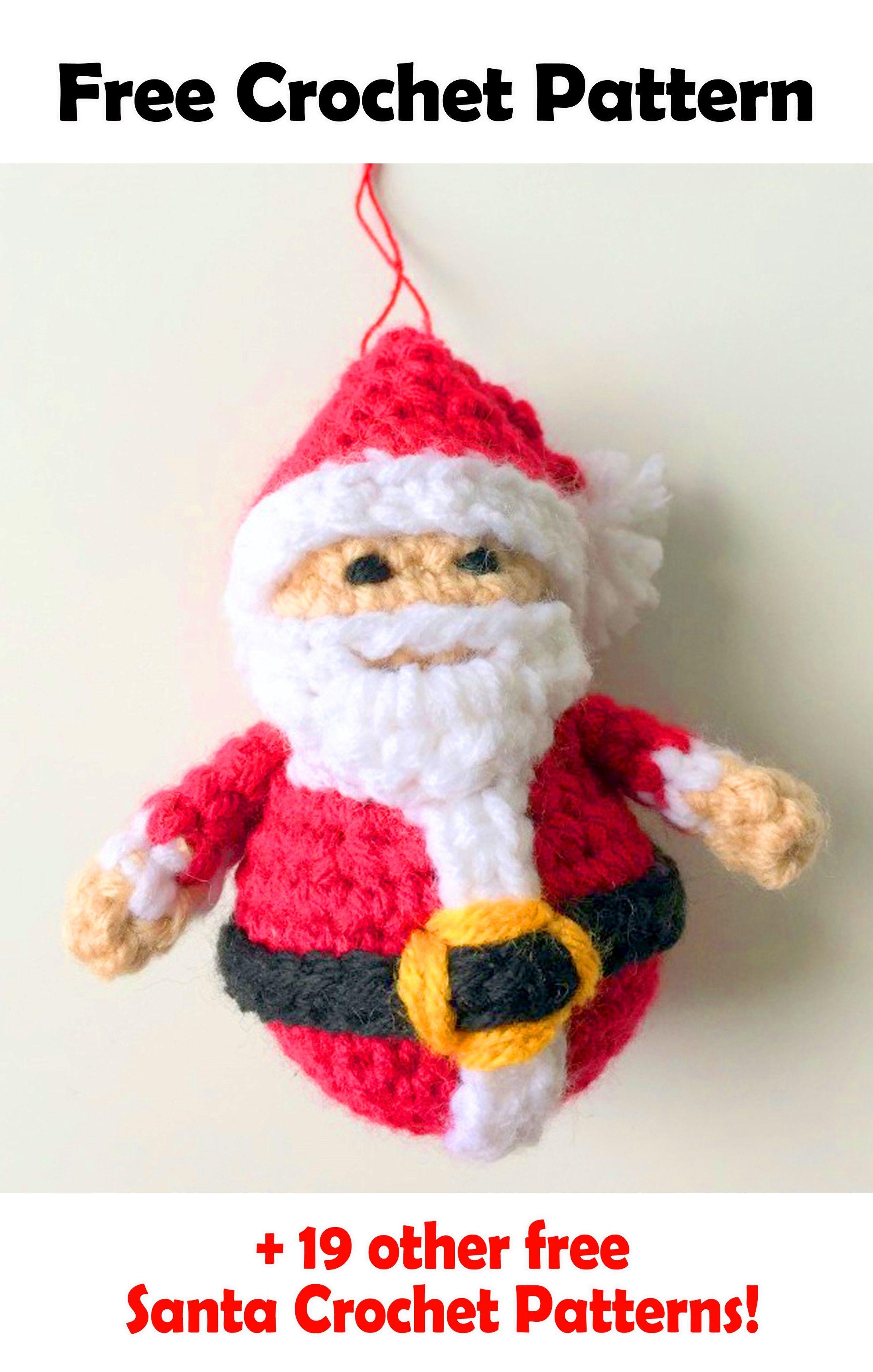 19 Free Amigurumi Christmas Santa Crochet Patterns | Crochet ...