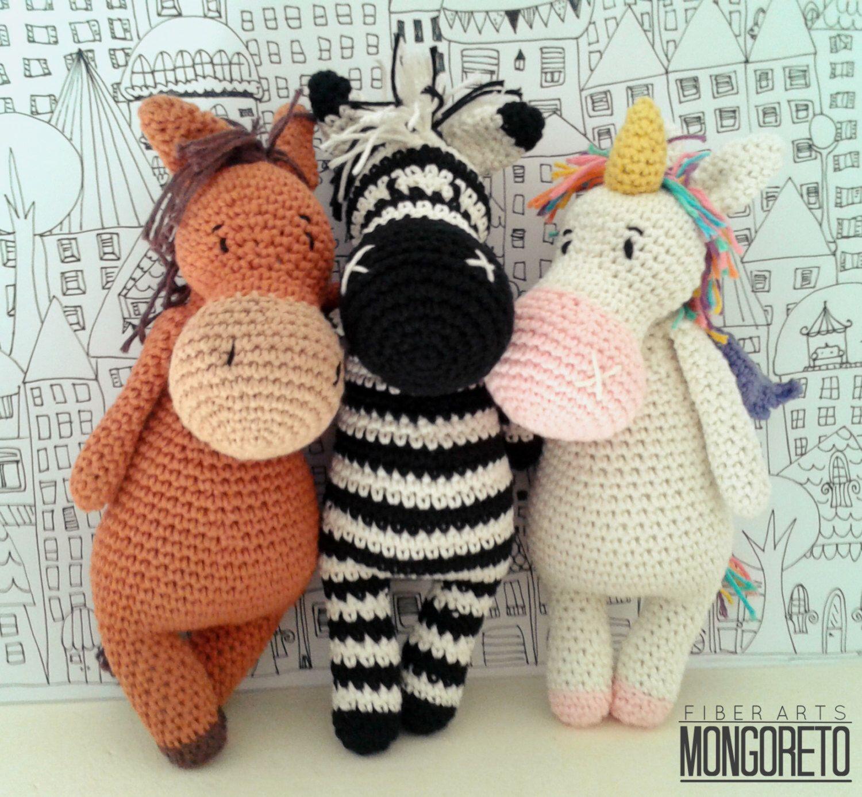 Amigurumi pattern x 3 unicorn zebra and horse 3 in 1 par amigurumi pattern x 3 unicorn zebra and horse 3 in 1 par dt1010fo