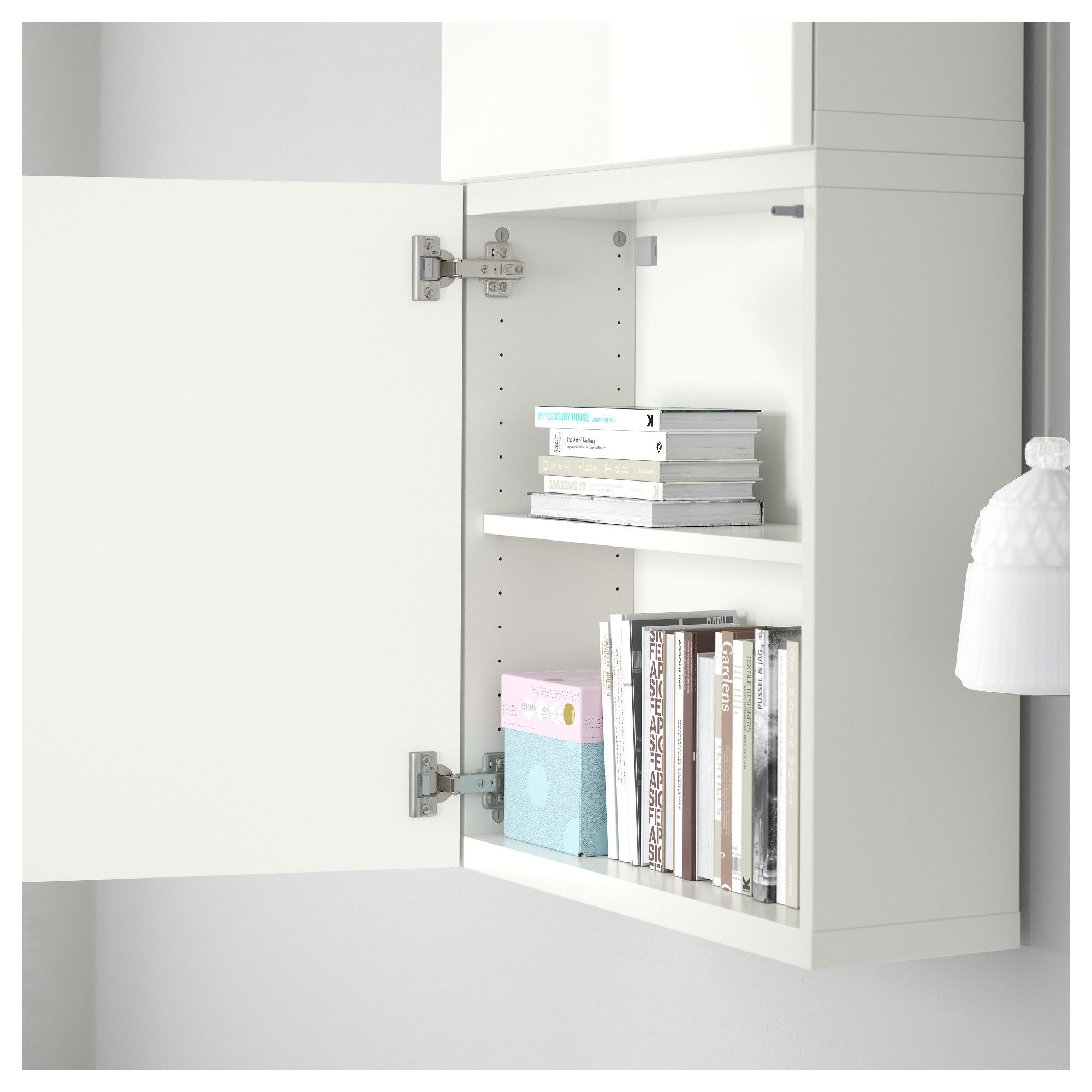 Besta Wall Cabinet With 2 Doors 23 5 8x7 7 8x50 3 8 Ikea Wall