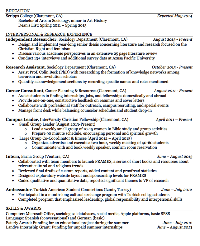 Sample Campus Leader Resume  HttpExampleresumecvOrgSample