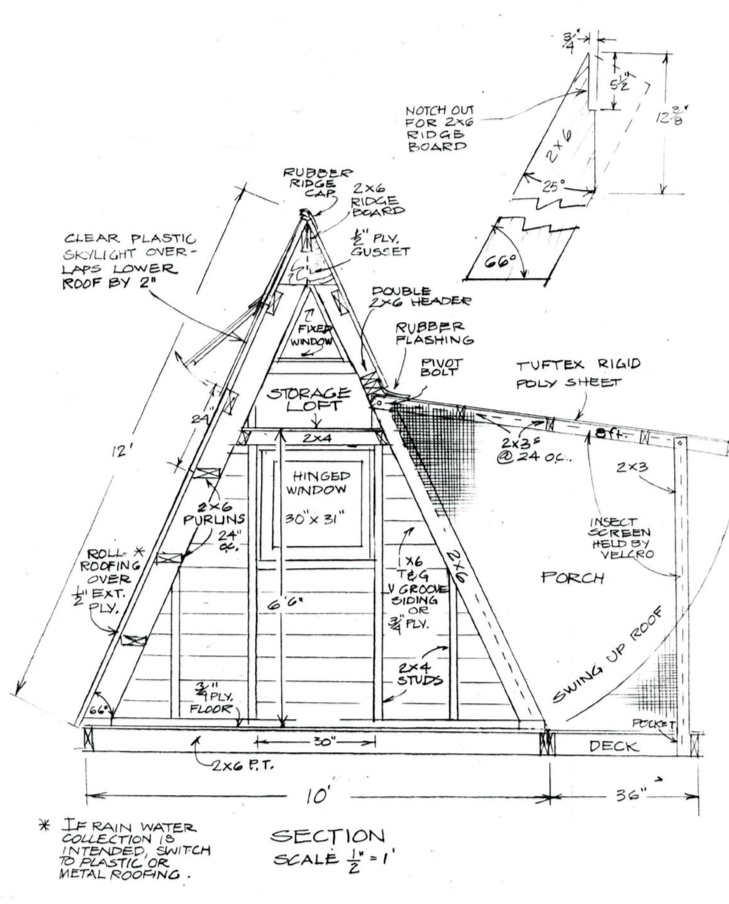 How to Build This A Frame Cabin That Will Pay for Itself