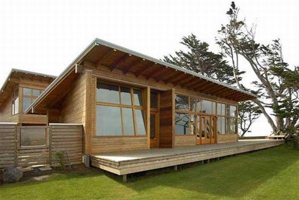 Desain Rumah Kayu Minimalis Klasik dan Sederhana - Membangun rumah dapat dibangun dengan bahan material apa saja salah satunya membangun r.