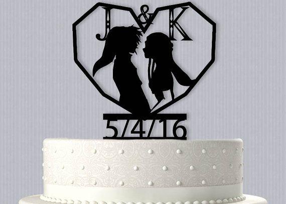 Personalized Cake topper Link and Zelda  Wedding Cake Topper,Fairytale Wedding,Custom Cake Topper,Link and Zelda