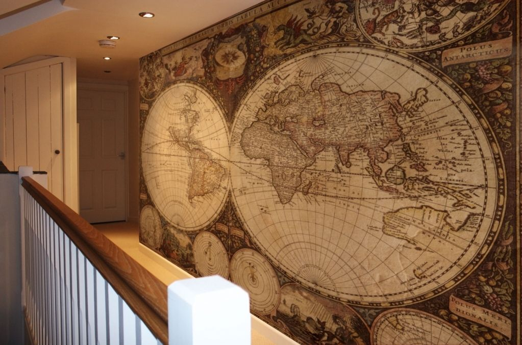 Vintage world map wallpaper i would like that in a study home vintage world map wallpaper i would like that in a study gumiabroncs Gallery
