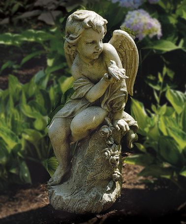Another great find on #zulily! Cherub on Pedestal Garden Statue by Roman #zulilyfinds