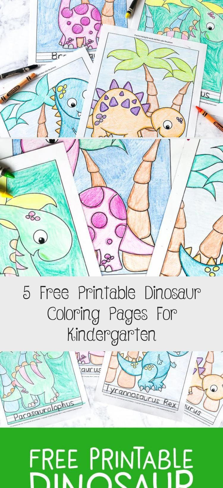 5 Free Printable Dinosaur Coloring Pages For Kindergarten - Toys #aboutdinosaurs
