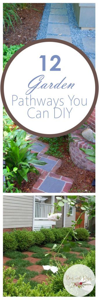 12 Garden Pathways You Can DIY ~ Bees and Roses #landscapingtips