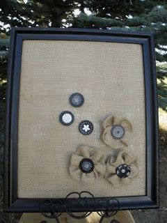 LOVE THIS!  burlap covered magnetic board -   25 burlap crafts board