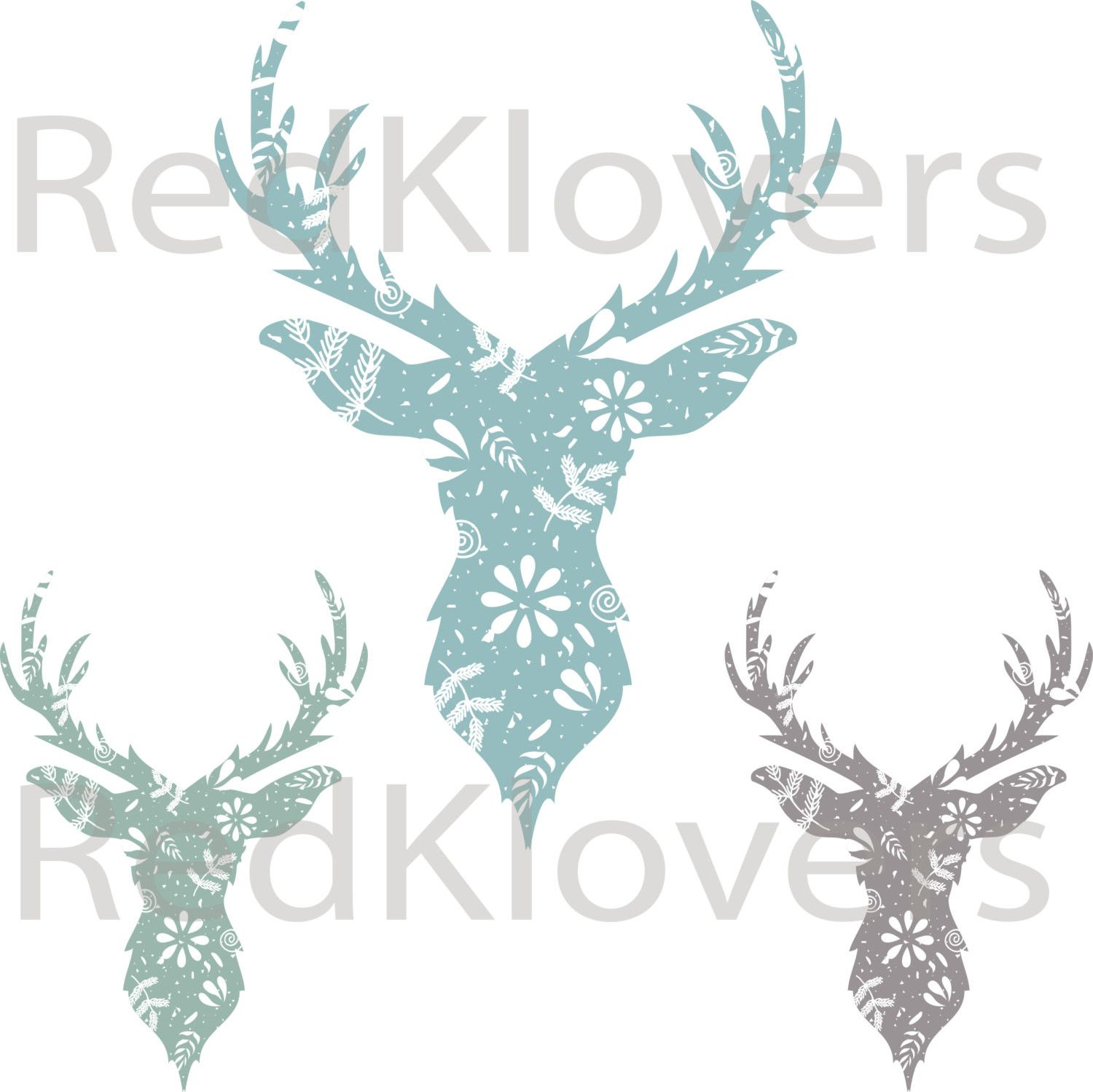 free vector Deer Head clip art graphic available for free