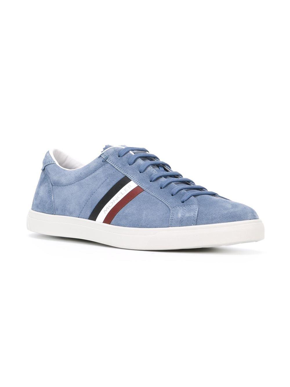 #moncler #sneakers #monaco #blue #suede #man #fashion www.