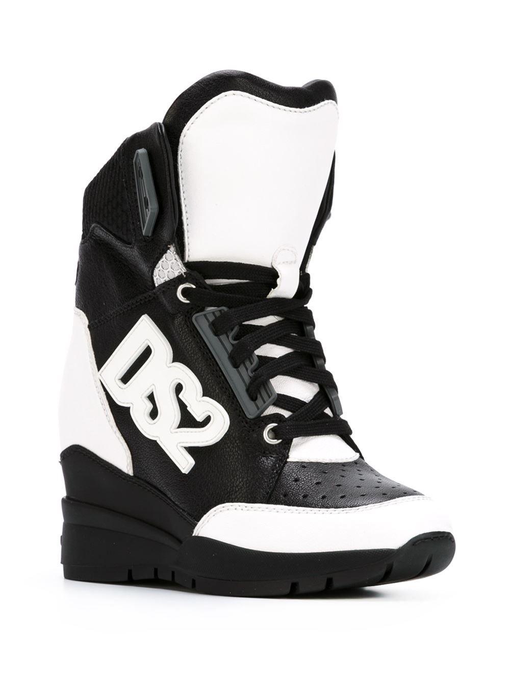 Keilabsatz Dsquared2 Top Sneakers Verdecktem High Mit kiZPXu
