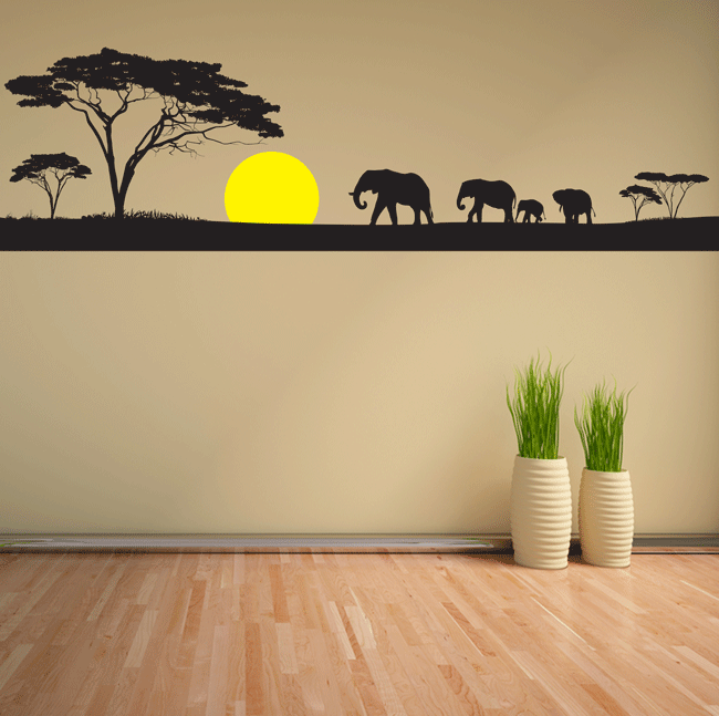 Sunset In The Savanna Wall Sticker. http://walliv.com/sunset-in-the ...