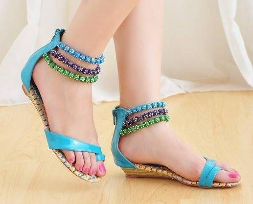 Latest Trend of Summer Shoes 2012 - Sandals & Flat Shoes n