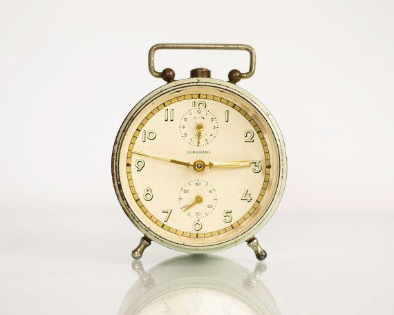 Vintage Alarm Clock JUNGHANS Old German Clock by ...