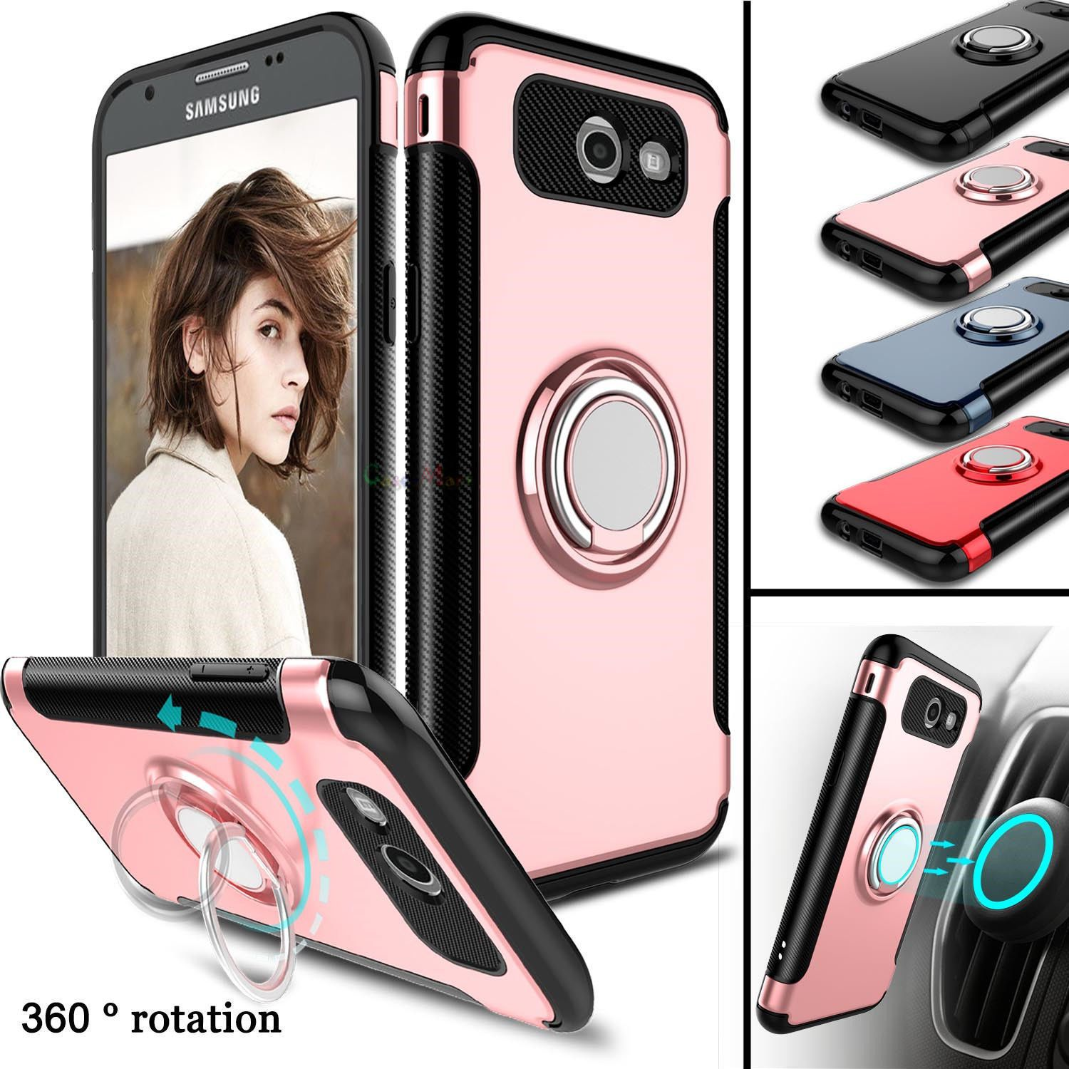 timeless design 21683 a5eb8 Slim Shockproof Kickstand Armor Case Cover For Samsung Galaxy J7 ...