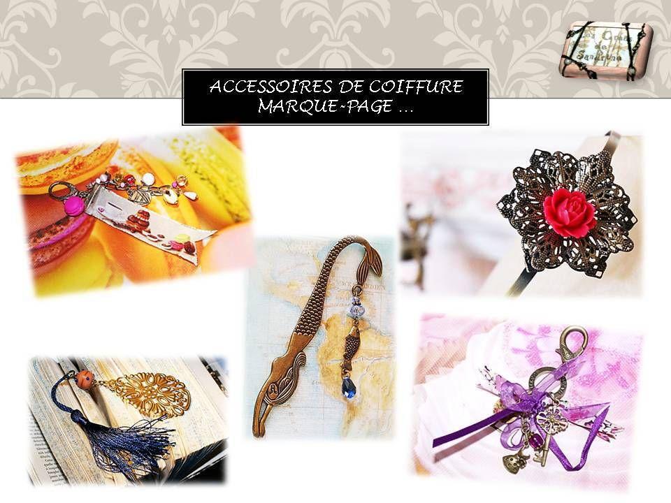 Marque page, porteclé et accessoires coiffure. www
