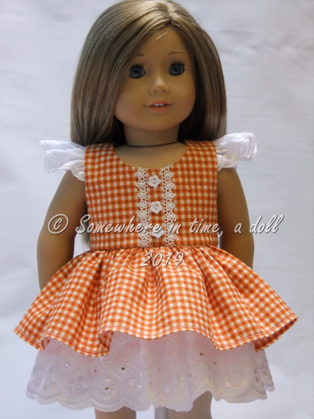 Ruffled party dress for 18-inch dolls such as American Girl or Our Generation #americandolls
