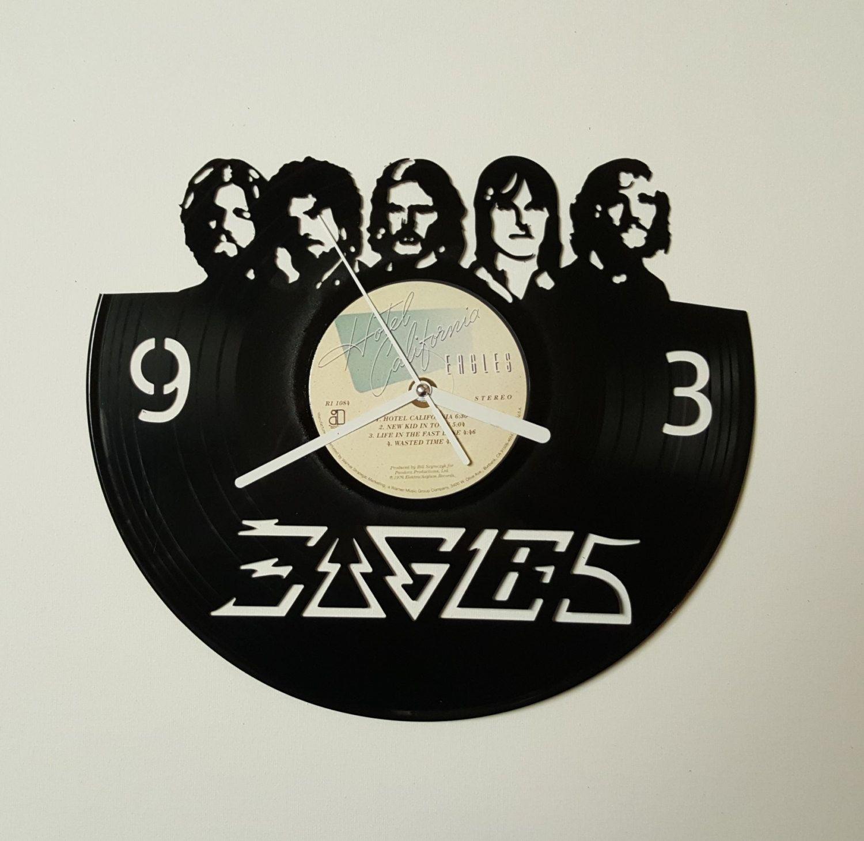 Eagles Band Clock Hotel California Wall Clock Vinyl Record