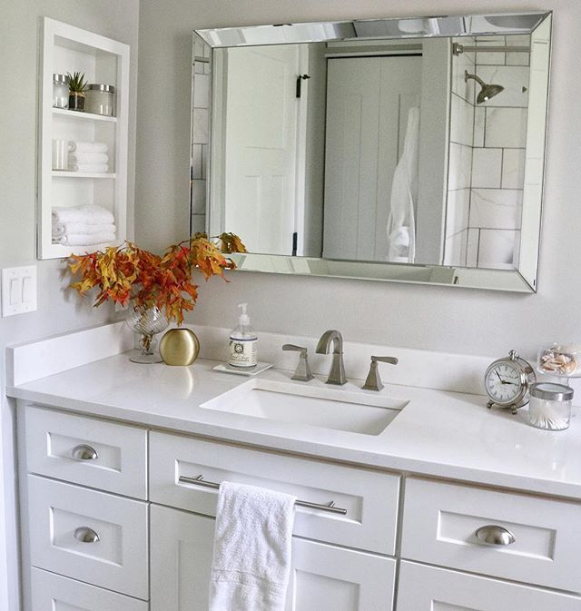 Julie Nay on Instagram After our master bathroom renovation was complete the next project was the bathroom shared by my two daughters This room had a mini Julie Nay on In...
