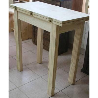 Mesa libro plegable patas rectas 80x40cm 80x80 cm pino - Mesas libro cocina ...