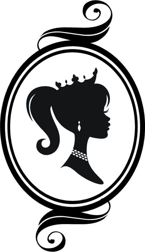 Princess In A Ponytail Svg Pinterest Manualidades Dibujos Y