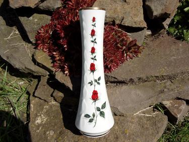 Porzellan Vase Mitterteich Bavaria Rose Blume