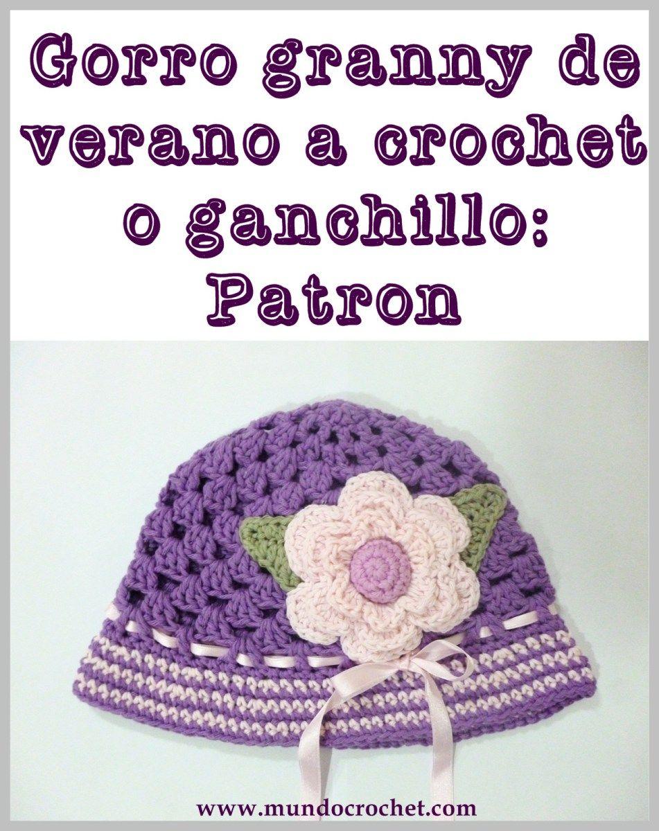 Gorro granny de verano para niña a crochet o ganchillo: Patrón ...