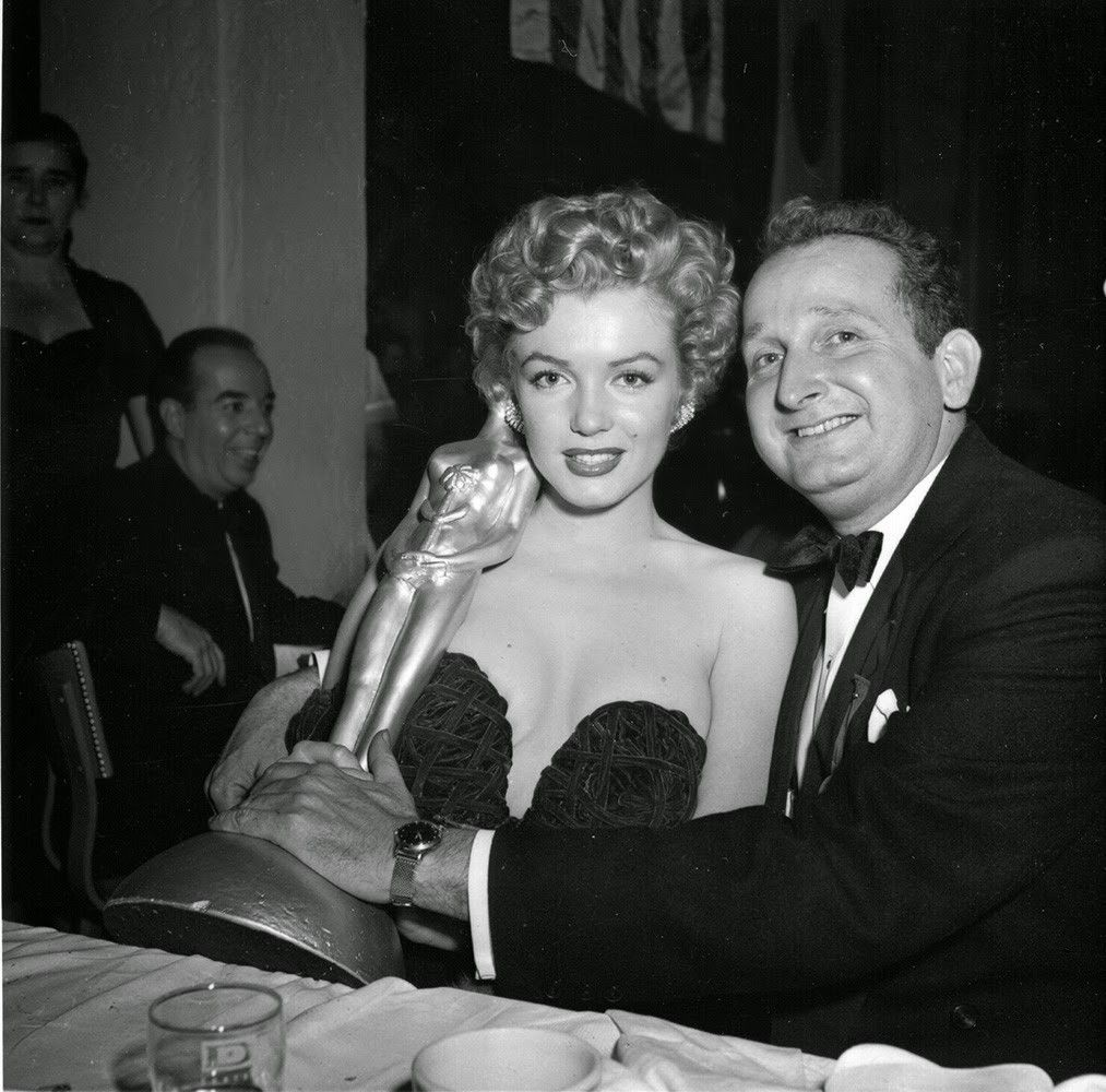 Marilyn Monroe photographed at the Henrietta Awards, at Club Del Mar, Santa Monica, California. February 8th 1952.