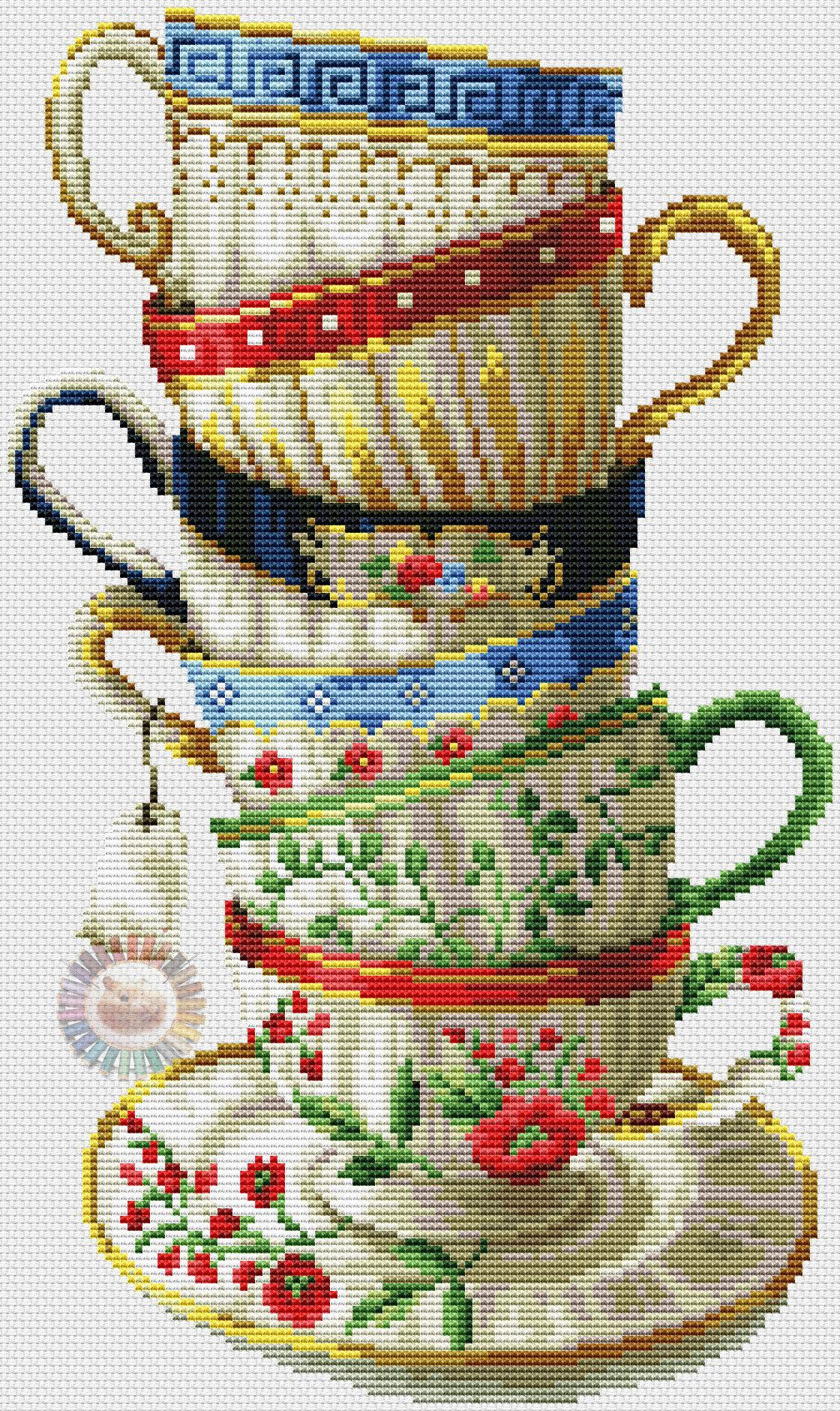Cup tea 6 eva pinterest punto de cruz cocina punto for Cocinas punto com